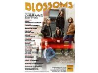 4x Blossoms standing tickets, O2 Glasgow Academy, Saturday 1st April 2017