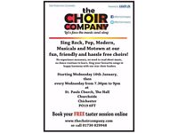 Join a new friendly and fun choir in Chichester!