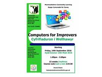 Computers for Improvers class starting at Monmouth Community Hub September 2016