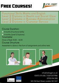 Free Maths, English and Diploma Courses