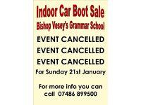Cancelled Indoor Car Boot - Bishop Vesey's Grammar School