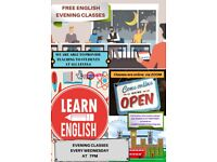 FREE EVENING CLASSES TO LEARN ENGLISH