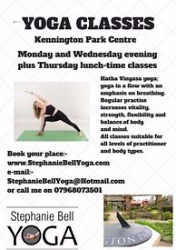 Yoga classes in Kennington / Oval Monday + Wednesday 7.35pm and Thursday 1pm
