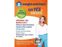 Brand new Weight Watchers Class The Cabin, Hebron Hall, Dinas Powis Wednesday 3pm 4.45pm & 6.30pm