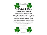 St Patrick Day Dinner Dance 17th March 2018