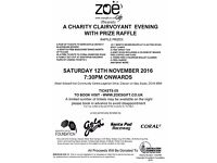 Charity Clairvoyant Evening with Fantastic Prize Raffle!!!