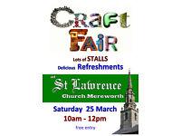 Morning Craft Fair in Mereworth, Kent
