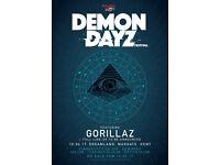 2 x Gorillaz Demon Dayz Festival
