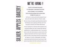 BAKER/PASTRY CHEF
