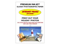 A4 Premium Inkjet Glossy Photographic Paper 105 Sheets per pack