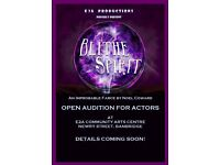 Theatre Group Auditions - Blithe Spirit