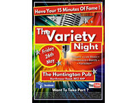 Singers * Bands * Comedians * Guitarists * Poets Wanted For The Varierty Night - Manchester