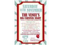 The Venue's Big Carnival Night in aid of Birmingham Children's Hospital