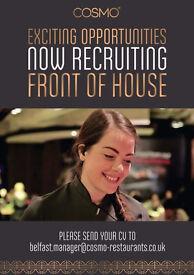 Cosmo - Work with us! Job vacancies at Cosmo Belfast