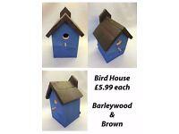 Colourful handmade wooden Garden birdbox's / Birdhouse - £5.99 each