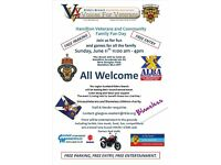 Hamilton Veterans & Community Family Fun Day June 11