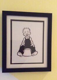 New framed Oor Wullie art