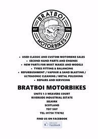BRATBOI MOTORBIKES - SELKIRK - REPAIRS & SERVICING - £20 1/2 HOUR LABOUR & NO ADDED SUNDRIES CHARGES