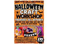 Halloween craft workshop for children age 5+