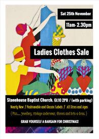 LADIES CLOTHES SALE, STONEHOUSE BAPTIST CHURCH, GL10 2PB. PARKING AVAILABLE