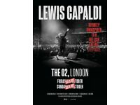 Lewis Capaldi standing tickets, O2 Arena London, Friday 2nd September 2022