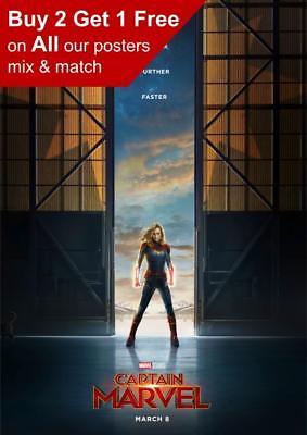 Captain Marvel 2019 Teaser Poster A5 A4 A3 A2 A1