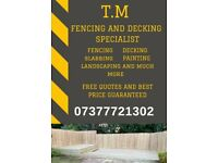 Fencing, Decking, Slabbing, Landscaping, Painting and much more