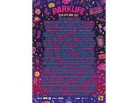 4x Parklife Manchester weekend tickets, Saturday 10th-Sunday 11th June 2017