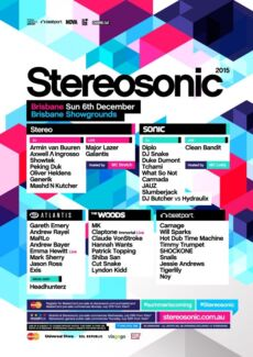 Stereosonic 2015 - Brisbane - 2nd Release Industry Hard Tickets Ipswich Ipswich City Preview