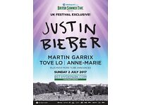 Justin Bieber 2 Tickets Premium View East Hyde Park Sun 2nd July