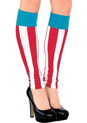 Captain America Bürgerkrieg Damen Bein Wärmer Kniestrümpfe Marvel Comics (Captain America Damen Kostüm)