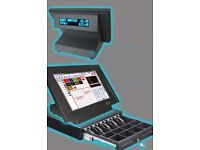 compact epos system & cash drawer w/ full software & 5 million barcode database for retail stores