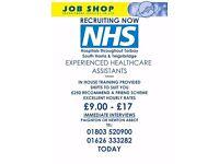 NHS Healthcare Assistants - Torbay, South Hams & Teignbridge - £9PH +