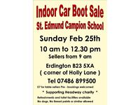 Indoor Car Boot Sale - Charity event on behalf of Headway