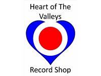 HEART OF THE VALLEYS RECORD STORE, BLACKWOOD INDOOR MARKET, NP12 1AZ.