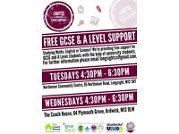 FREE GCSE SUPPORT MATHS ENGLSH AND SCIENCE