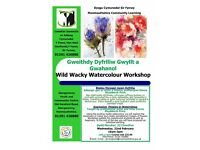 Watercolour Art Workshop in Abergavenny