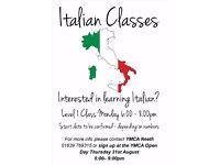Learn Itlian at YMCA Neath