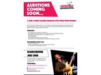 Three and Four Piece Bands Wanted for Function Work - Manchester