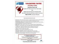 Valentine Fayre - Asfordby Parish Hall - Sunday 12th and Monday 13th February 2017