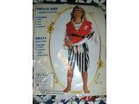 Girls Fancy Dress Costume Pirate Girl Age 9-12 years 130-140cm