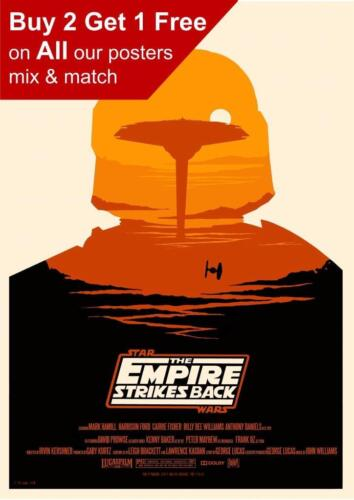 Star Wars The Empire Strikes Back Art Poster Print A5 A4 A3 A2 A1 A0