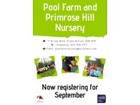 Nursery Spaces Available!