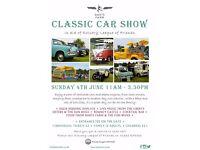 Darts Farm Classic Car Show Topsham Exeter 4th June 2017