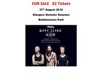 Biffy Clyro Tickets - Glasgow Summer Seasons Bellahouston For Sale