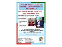 British Sign Language Taster Classes for schools/businesses