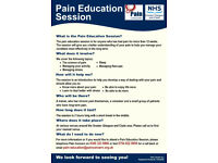 Free Chronic Pain Education Classes across Greater Glasgow and Clyde