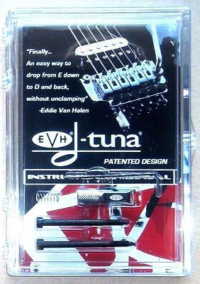 EVH® D-Tuna Drop D Tuning System For Floyd Rose Bridge~Chrome~Made USA~Brand New