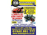 CARPARTS VANPARTS CAR BREAKER SALVAGE 1000'S CAR PARTS - MANCHESTER, ENGINES,GEARBOX, EXPORT