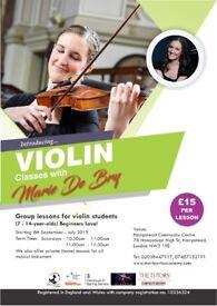 Violin Group Classes - Hampstead (Violin Teacher - Violin Lessons)